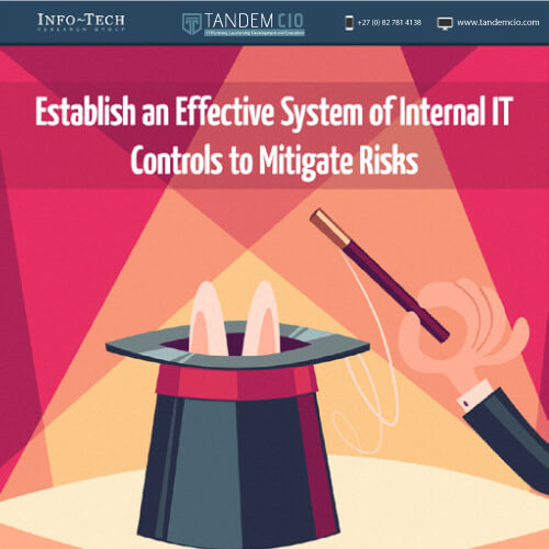 Establish an effective system of internal IT controls to mitigate risks