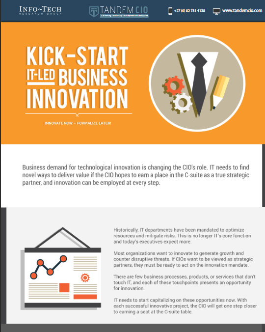 Kick-start IT-LED business innovation